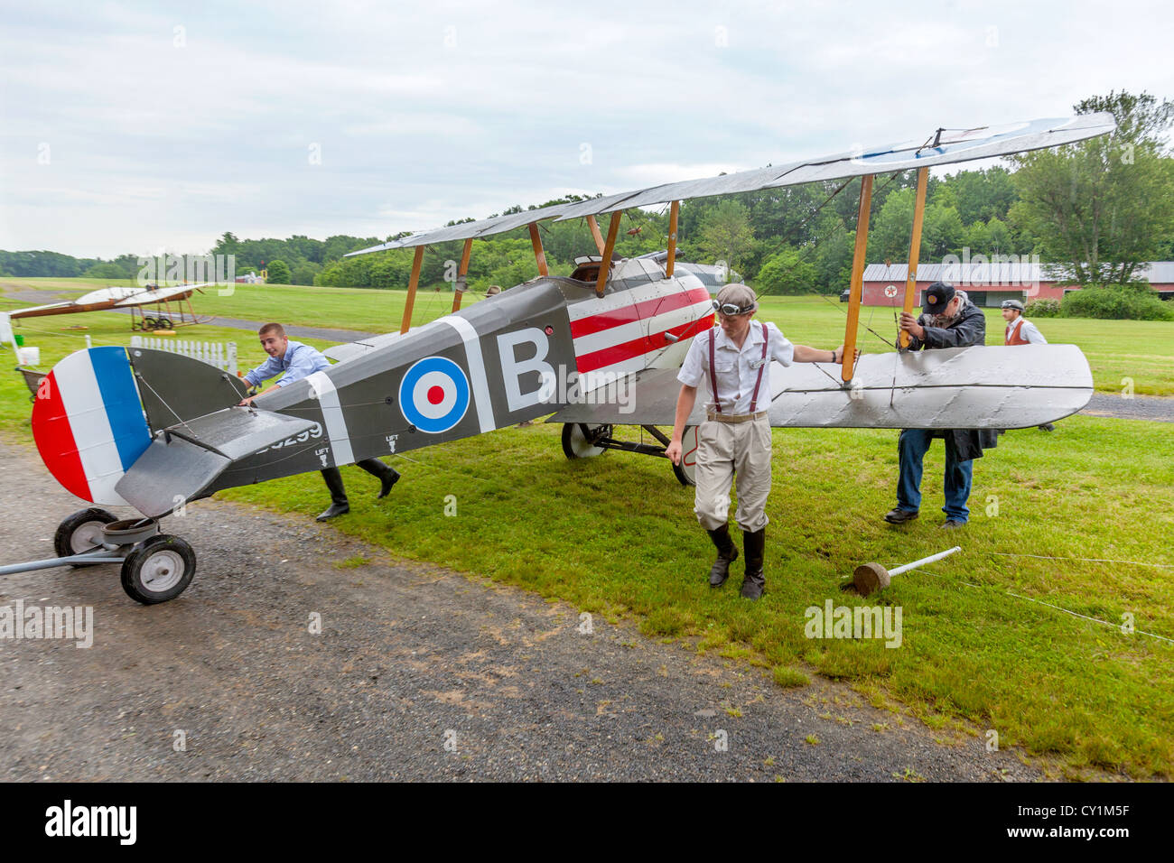 Sopwith Camel antique biplane. - Stock Image