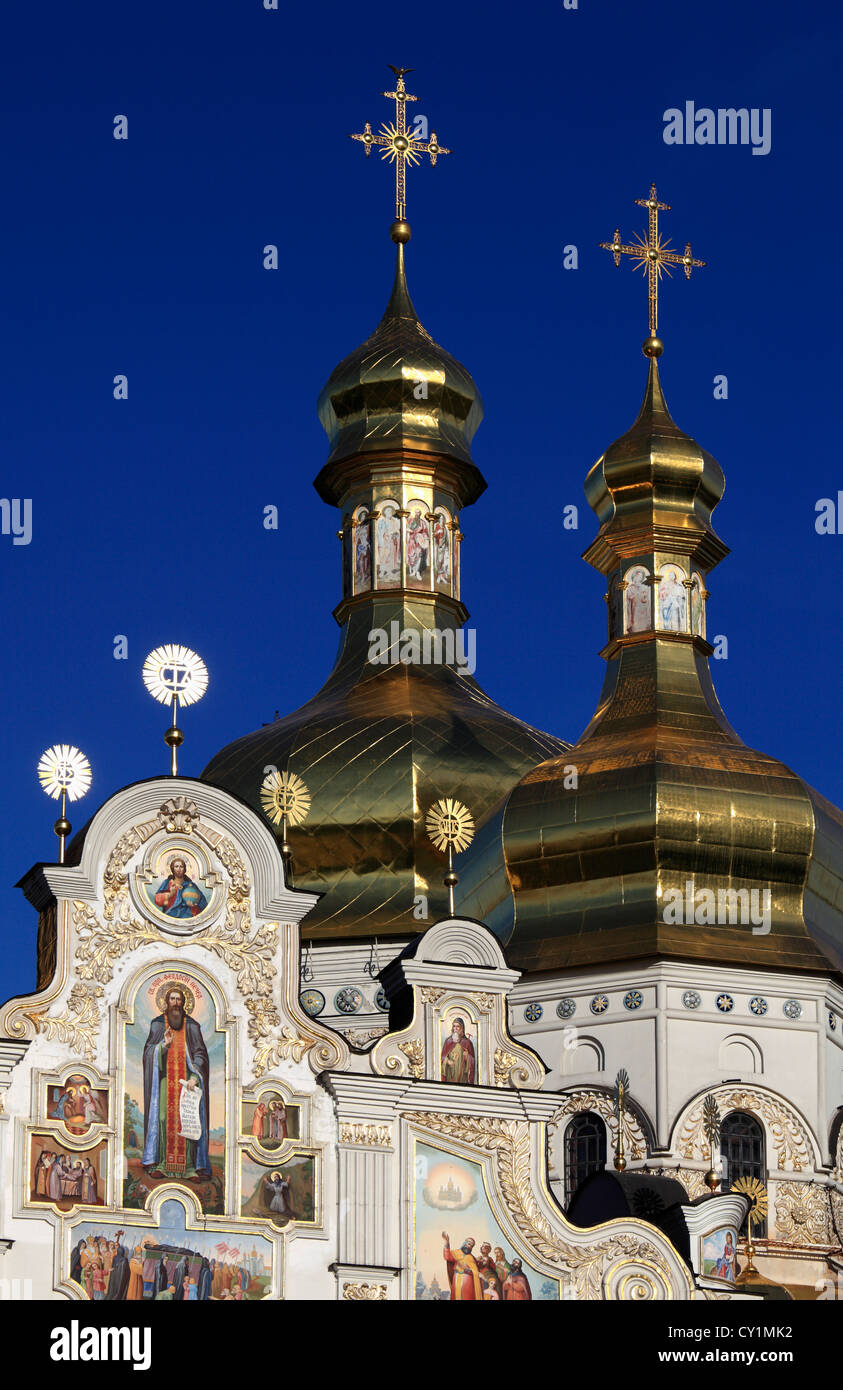 Ukraine, Kiev, Kyiv, Kyevo-Pecherska Lavra, Dormition Cathedral, - Stock Image