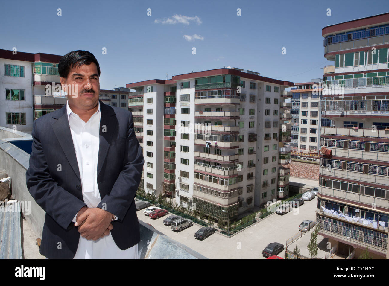 apartment buildings in Kabul, Afghanistan - Stock Image