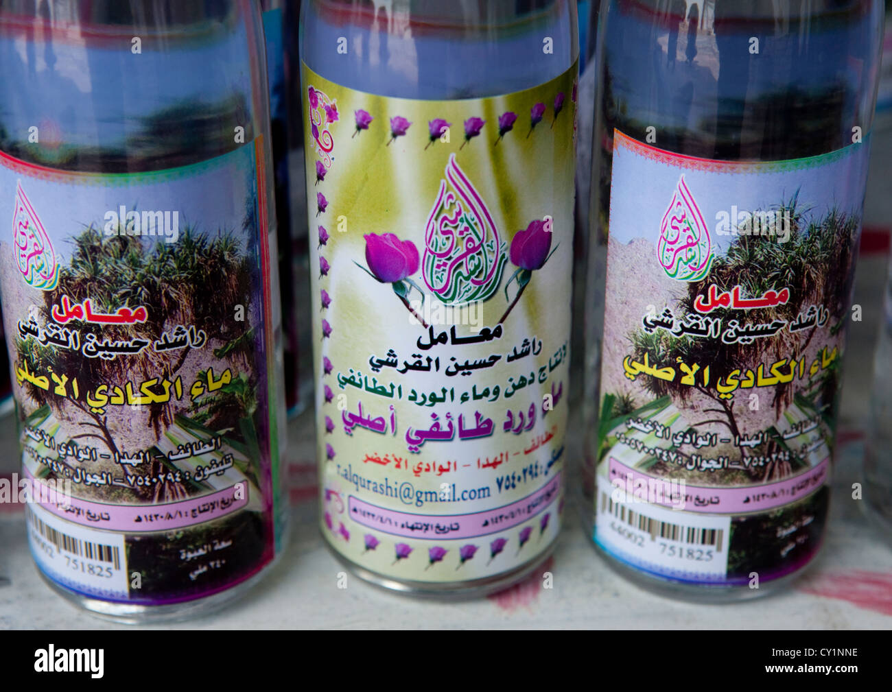 Rose Water, Saudi Arabia - Stock Image