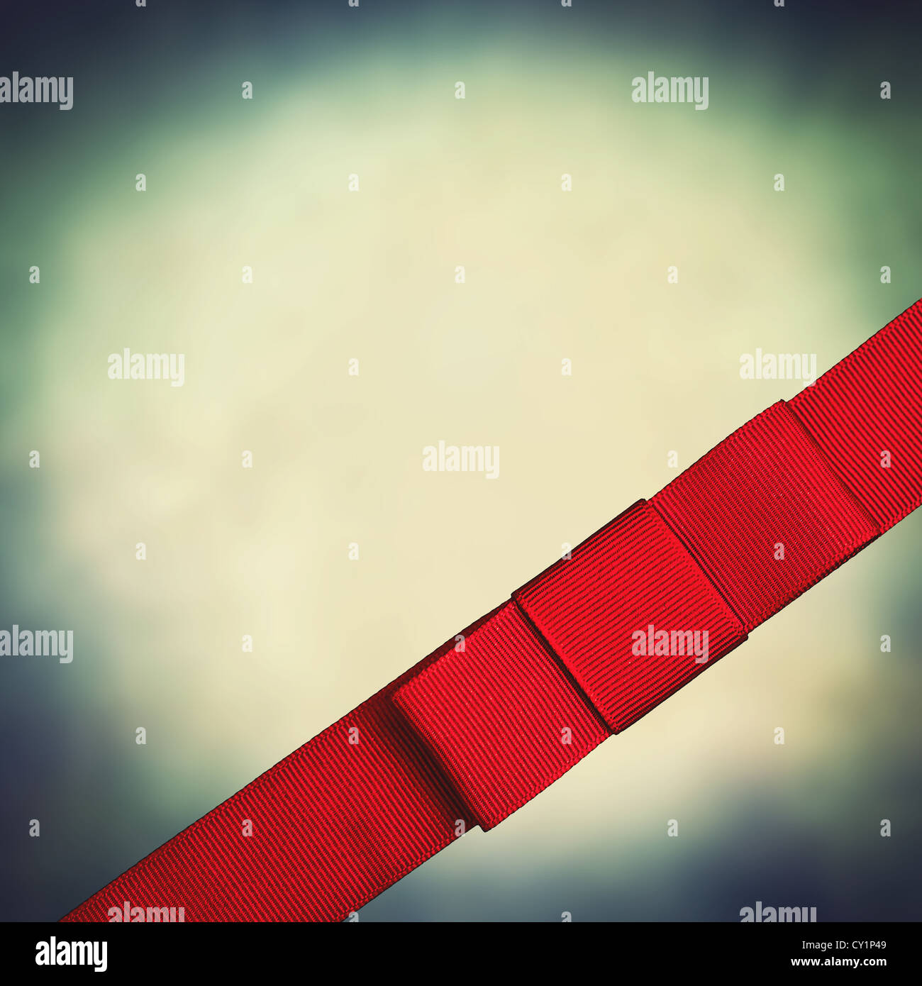 square ribbon - Stock Image