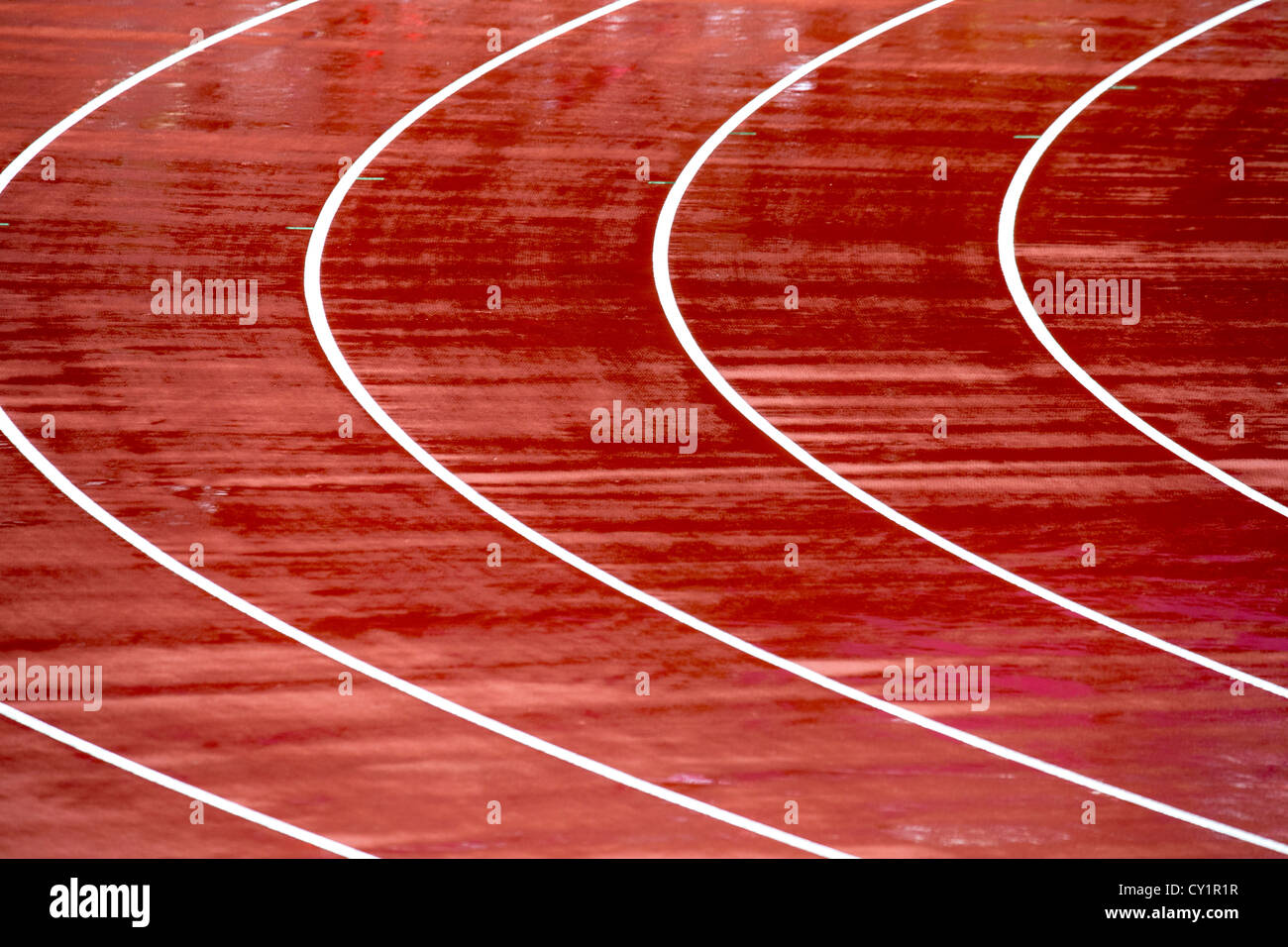 Lanes of track - Stock Image