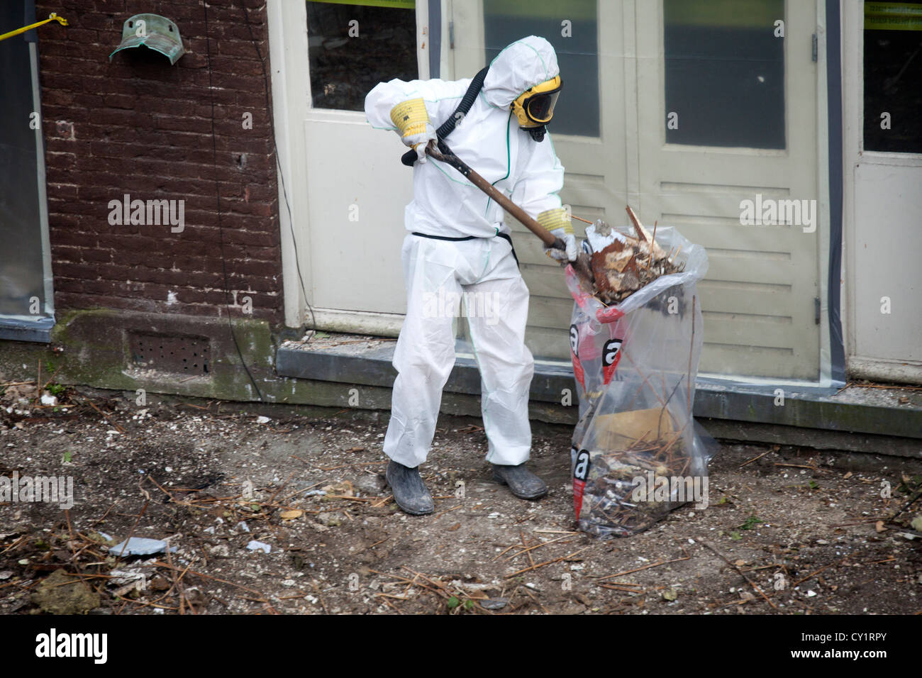 asbest cleaning in Amsterdam - Stock Image