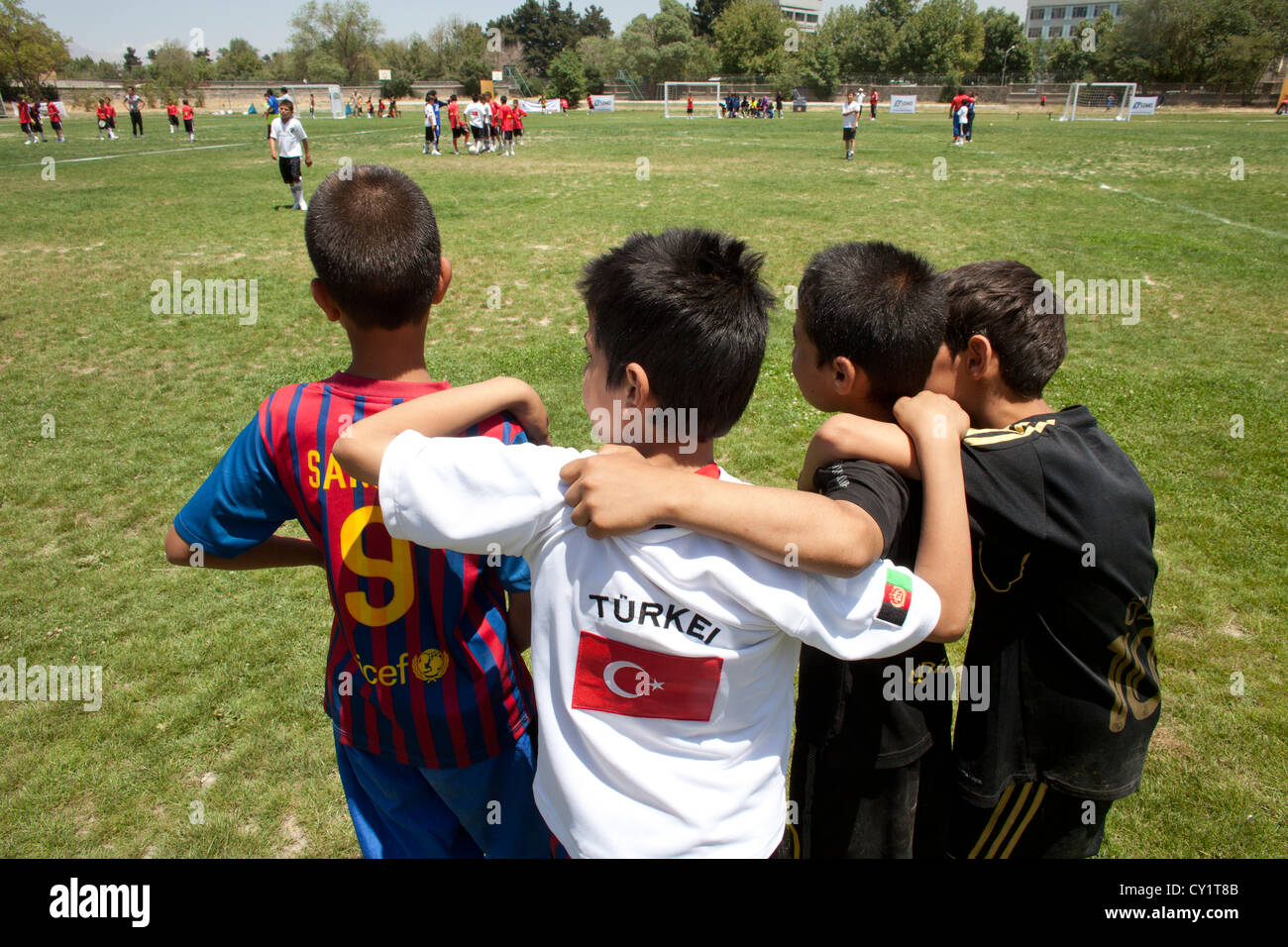 football players sports group sport player uniform - Stock Image