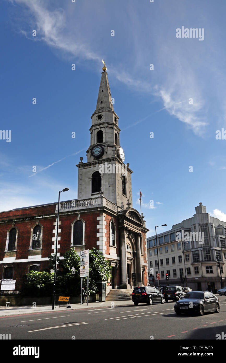 London England Borough Church Of Saint George The Martyr With Saint Jude Consecrated in 1736 - Stock Image