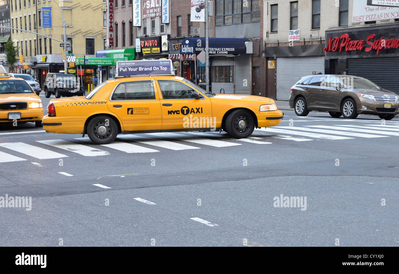 Taxicab in New York City - Stock Image