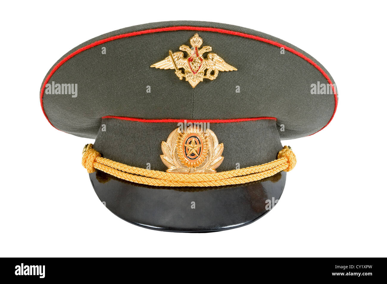 ab5ddc78008 Russian Military Officer Cap isolated on white background Stock ...
