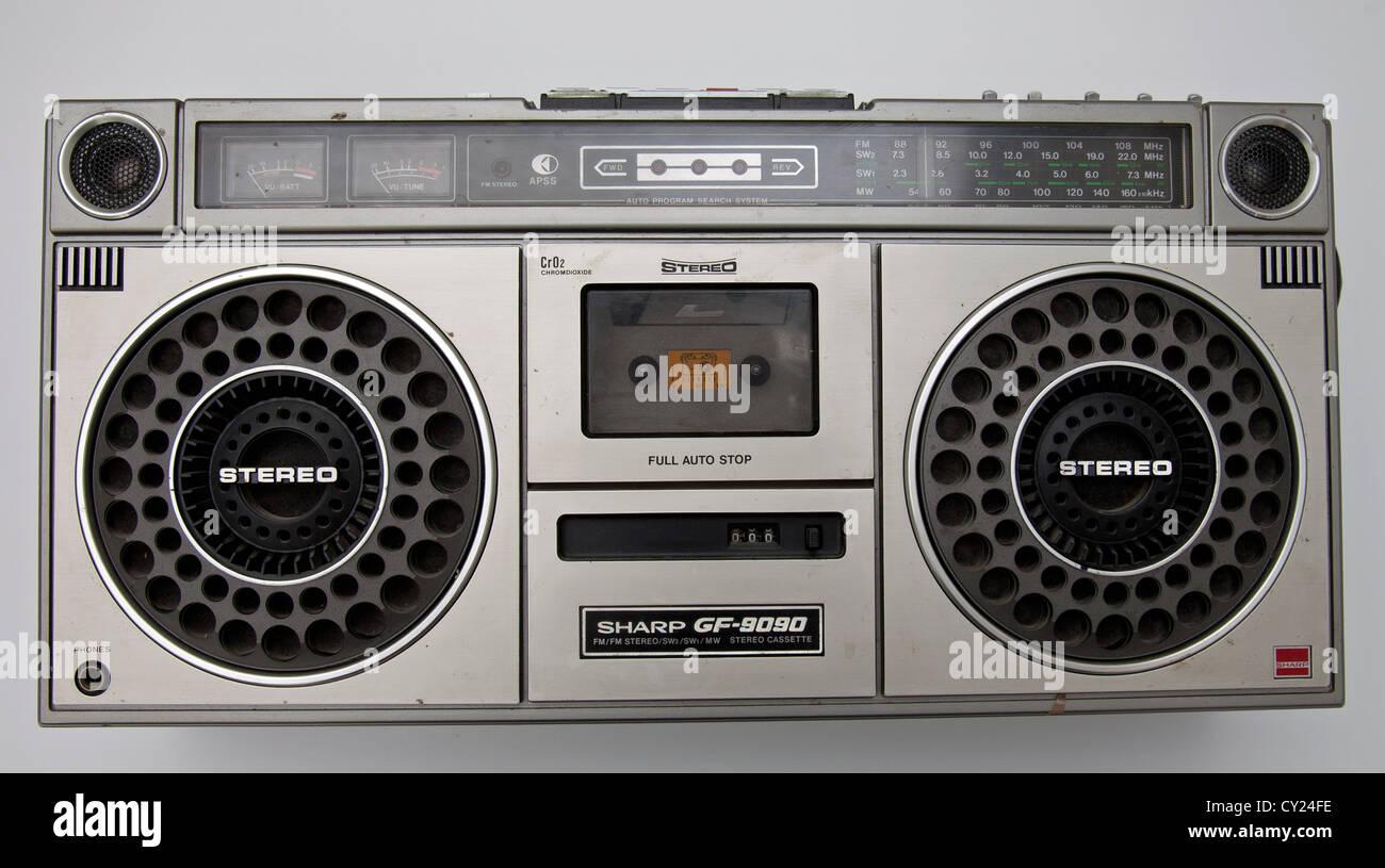 Sharp radio cassette player - Stock Image