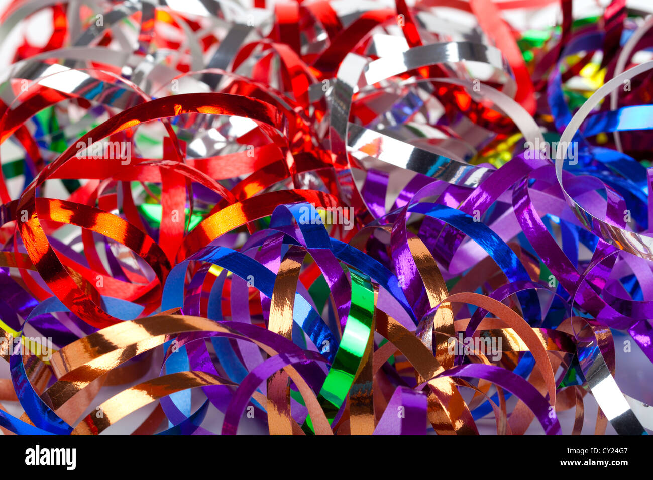 Colorful streamers background - Stock Image