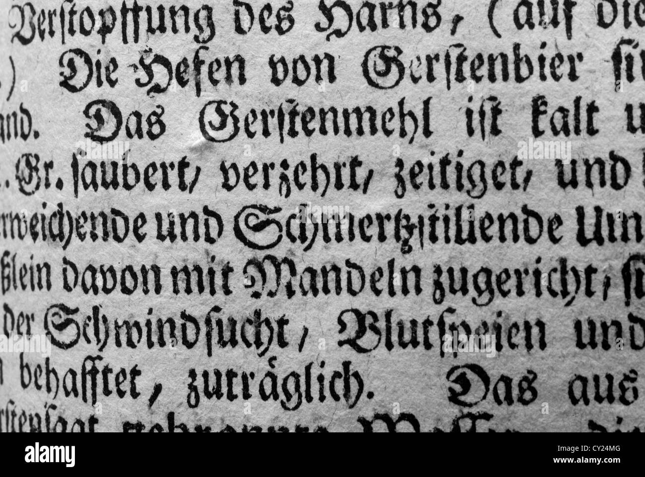 Gothic Letters In Old XIX Century German Book