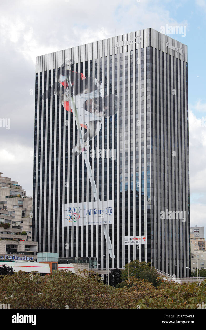 Allianz office building in Paris - Stock Image