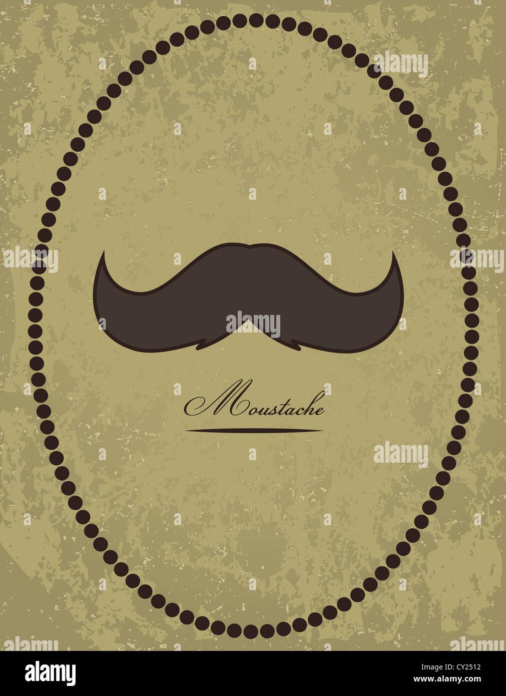 Moustache background - Stock Image