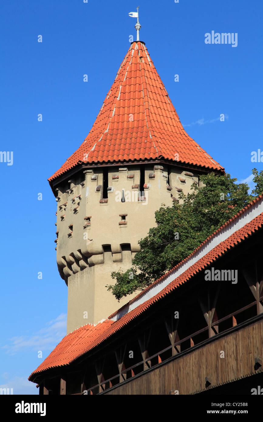 Romania, Sibiu, Carpenters' Tower, - Stock Image