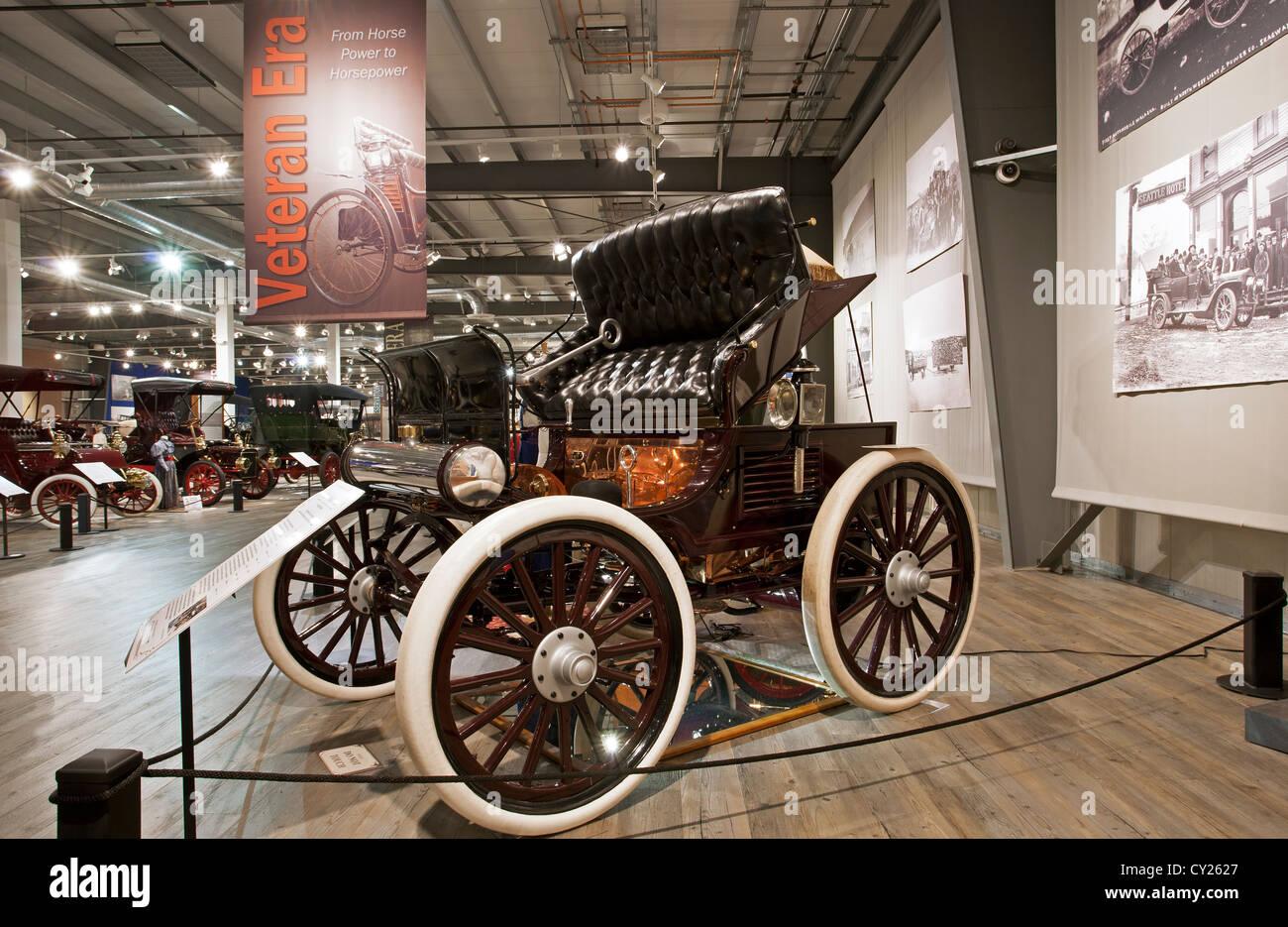 1898 Hay Motor Vehicle,model Stanhope Phaeton. Fountainhead Antique Auto Museum. Fairbanks.Alaska. USA - Stock Image