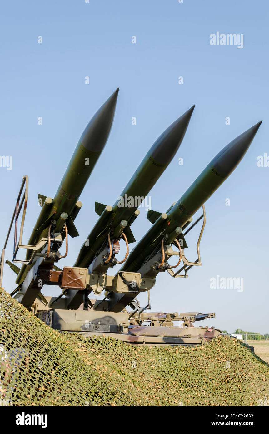 Self-propelled rocket launcher Kub - Stock Image