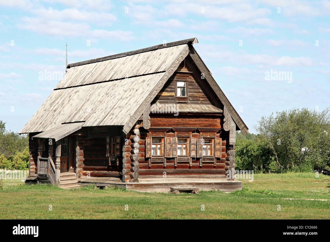 Old wooden house - Stock Image