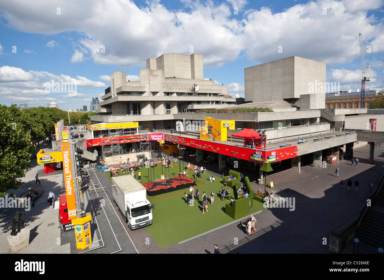 The National Theatre bulding, South Bank, London, England, UK - Stock Image
