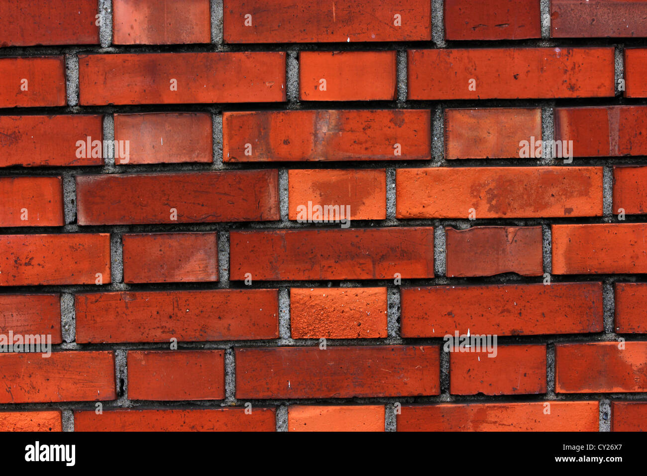 Bright Red Orange Brick Wall, Street, Wall, Bright Color's