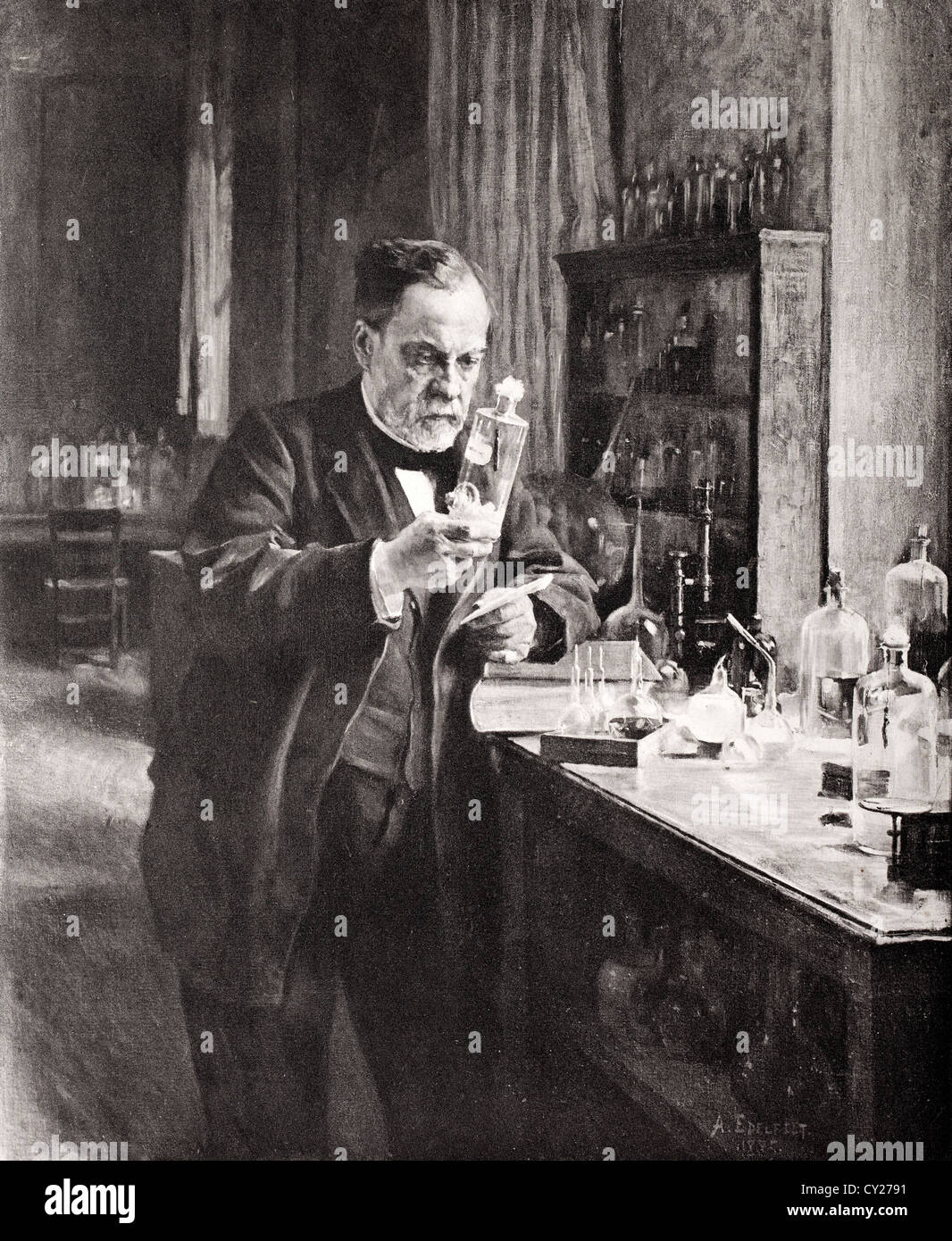Louis Pasteur (1822-1895), French chemist and microbiologist Stock Photo