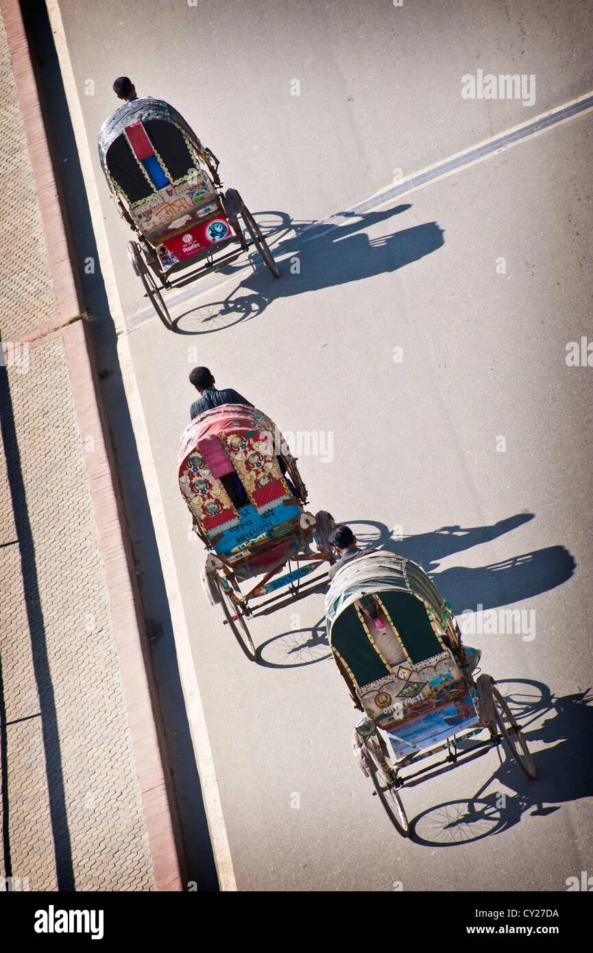 Rickshaws in Dhaka, Bangladesh - Stock Image