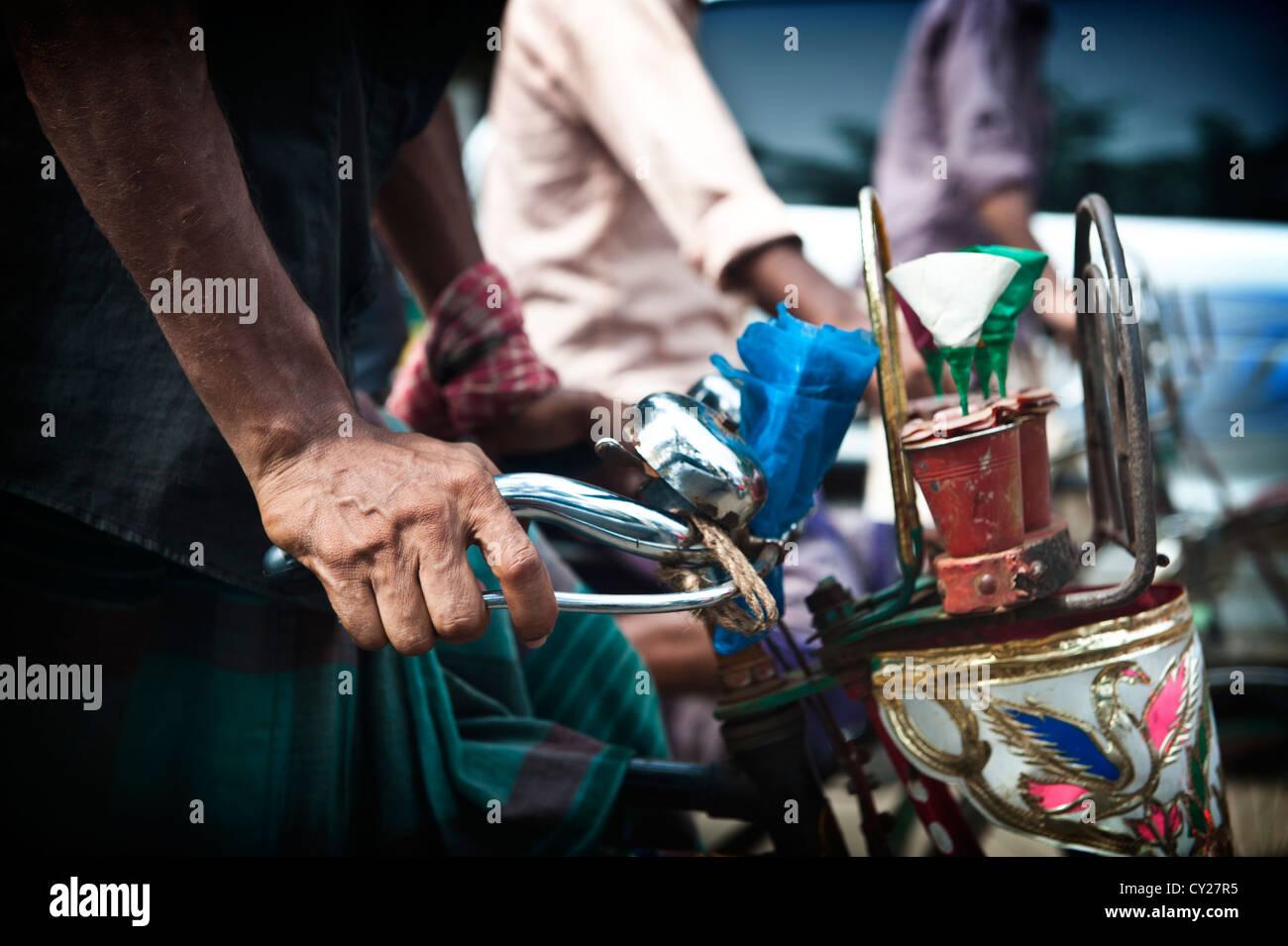 Bangladesh, Dhaka, Bangladeshi, rickshaw - Stock Image