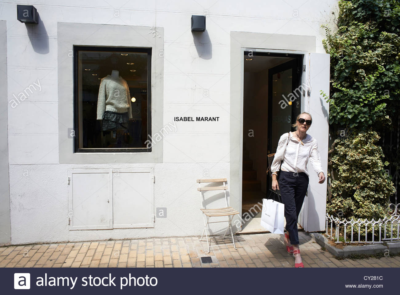 Isabel Marant shop in Serrano shopping area of in Madrid in Spain - Stock Image