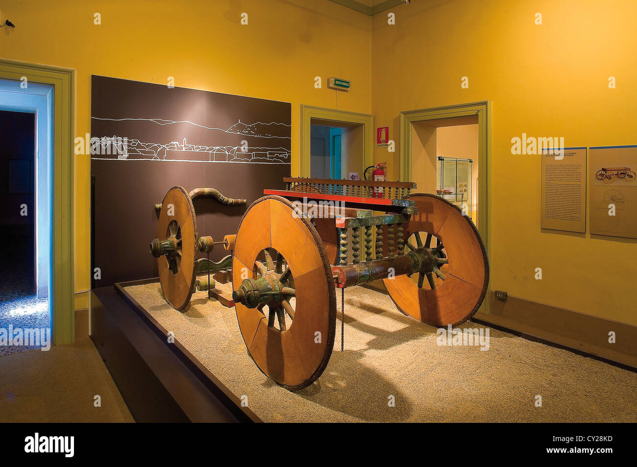 Europe Italy Lombardy Como  Palazzo Giovio Archaeological Museum Room Prehistory The Carriage of the Ca Morta - Stock Image
