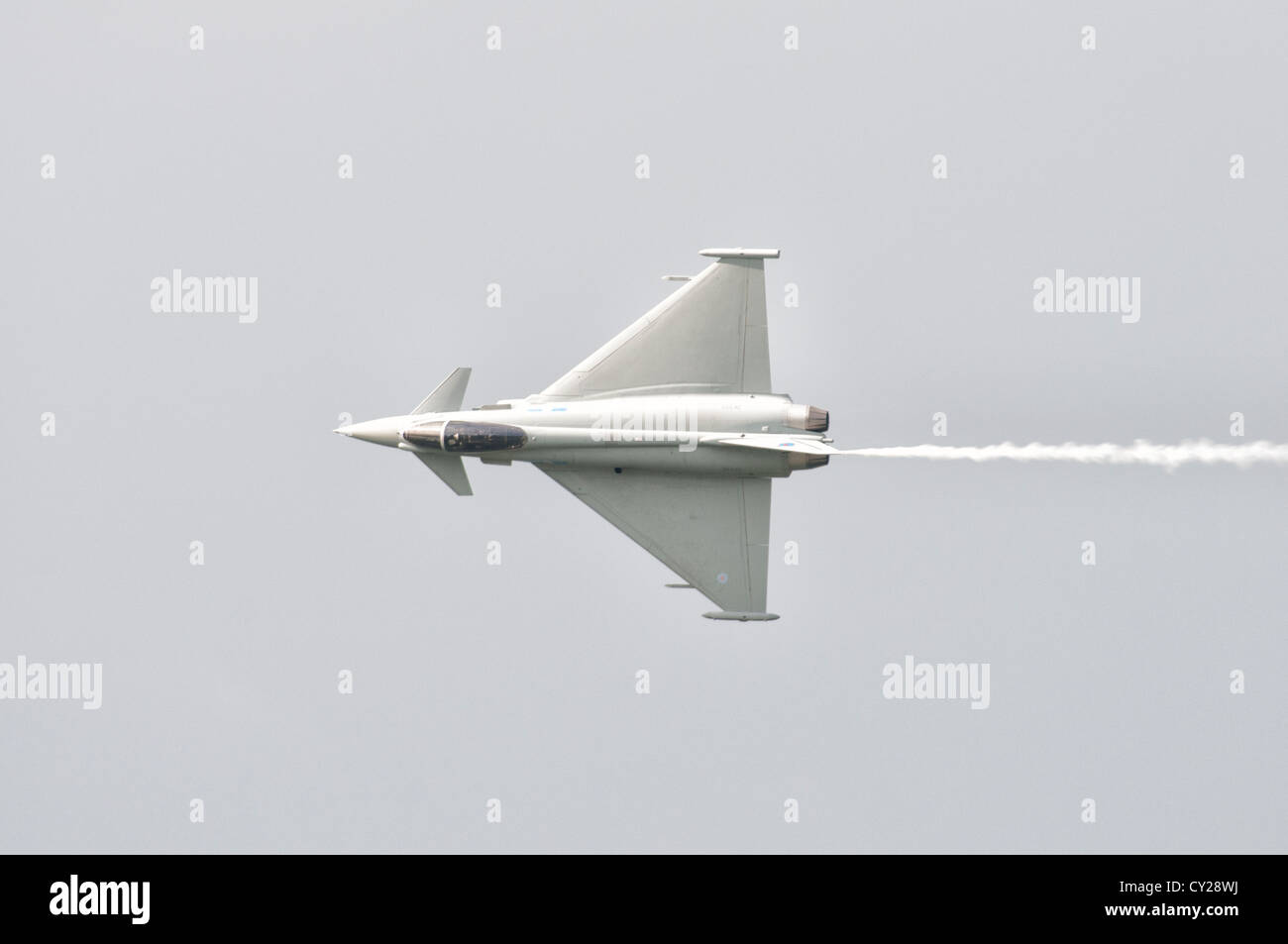 Eurofighter Typhoon FGR4 ZK333 from RAF Leuchars Royal Air Force station displays at the 2012 Royal International - Stock Image