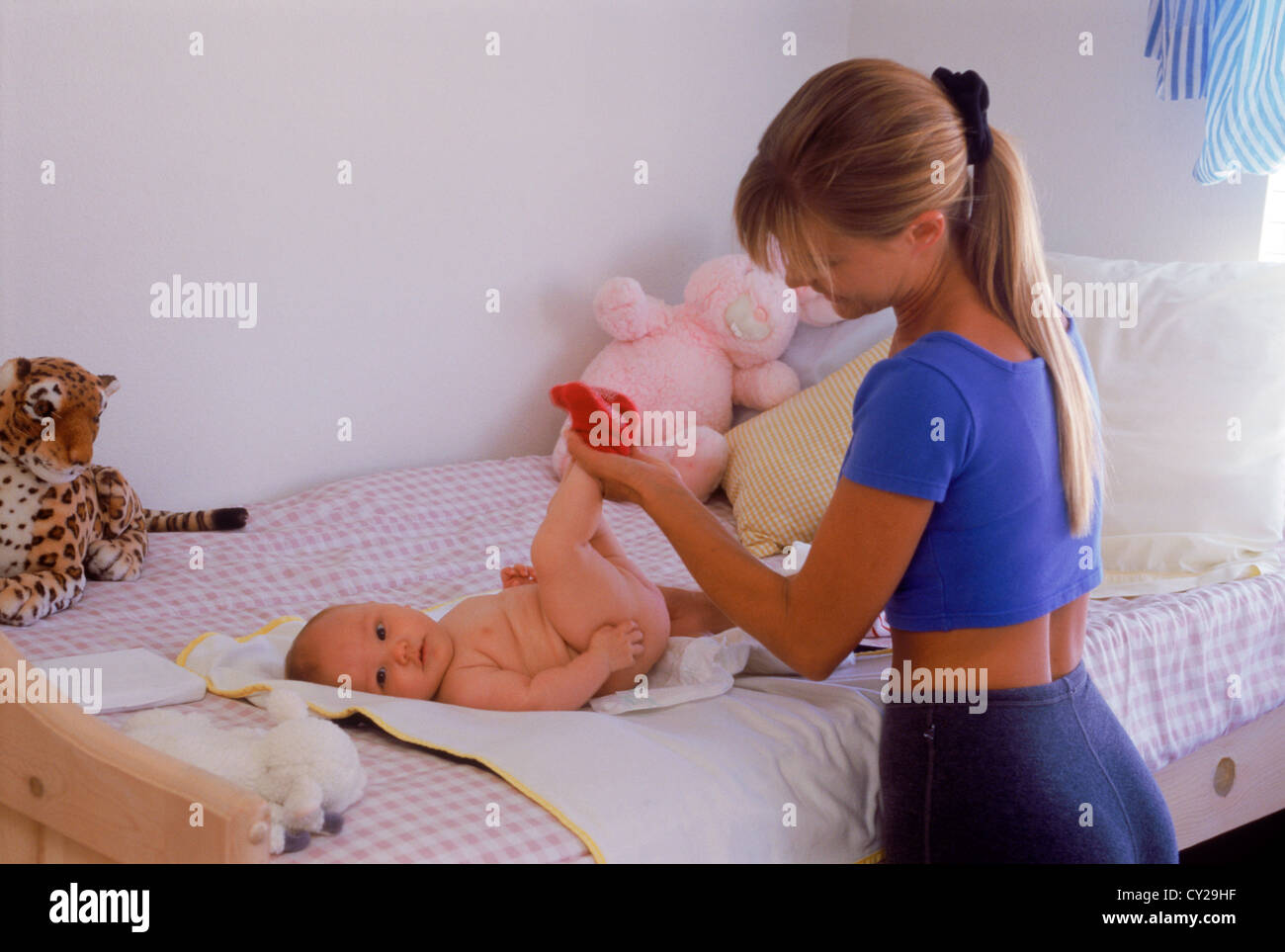 Adult baby changing diaper picture