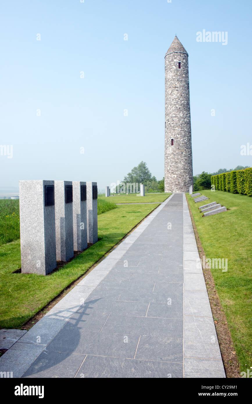 Irish Peace Park Messines, Flanders, Belgium - Stock Image