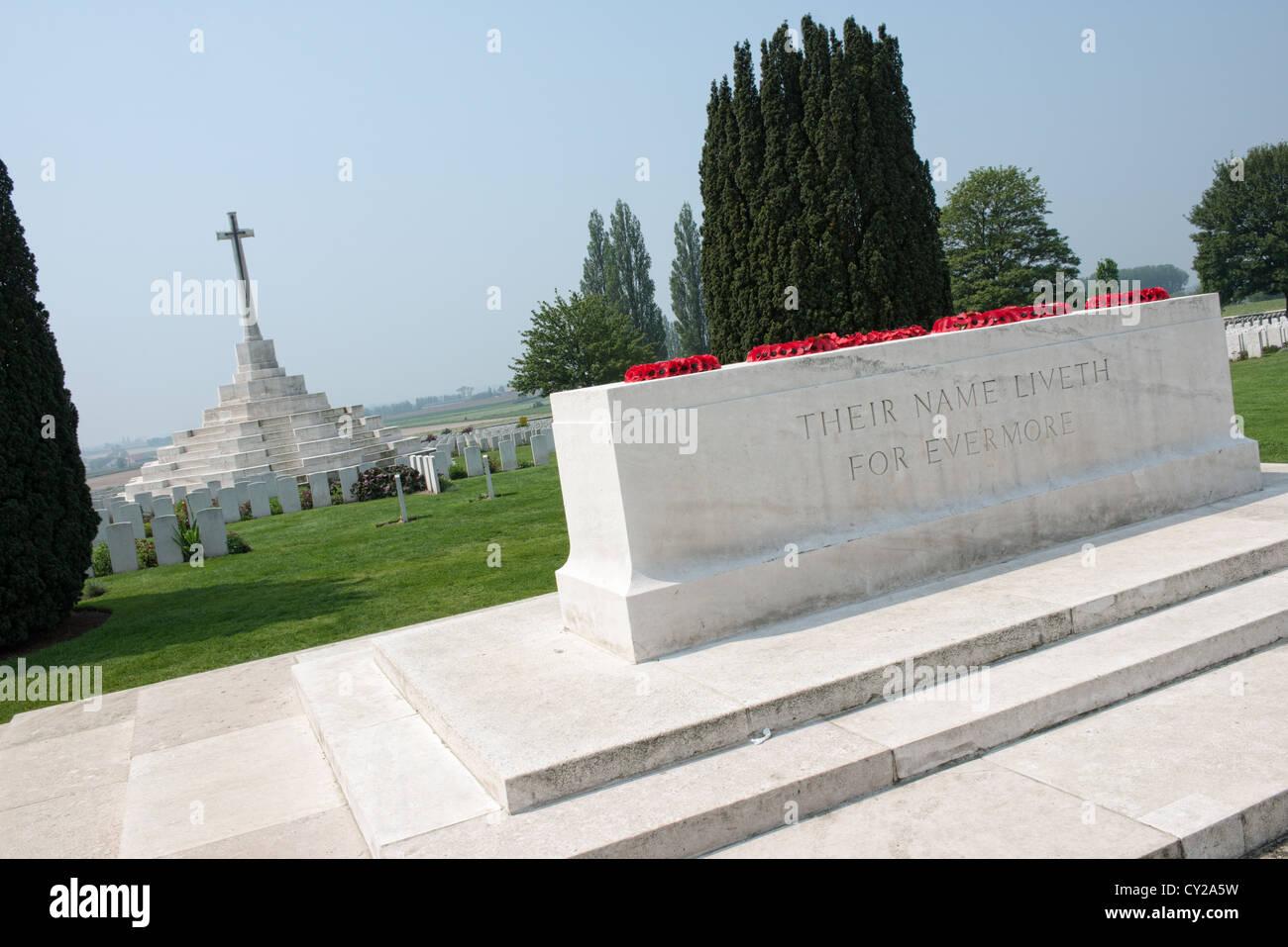 Passchendael ww1 memorial Tyne Cot Ypers Ieper - Stock Image