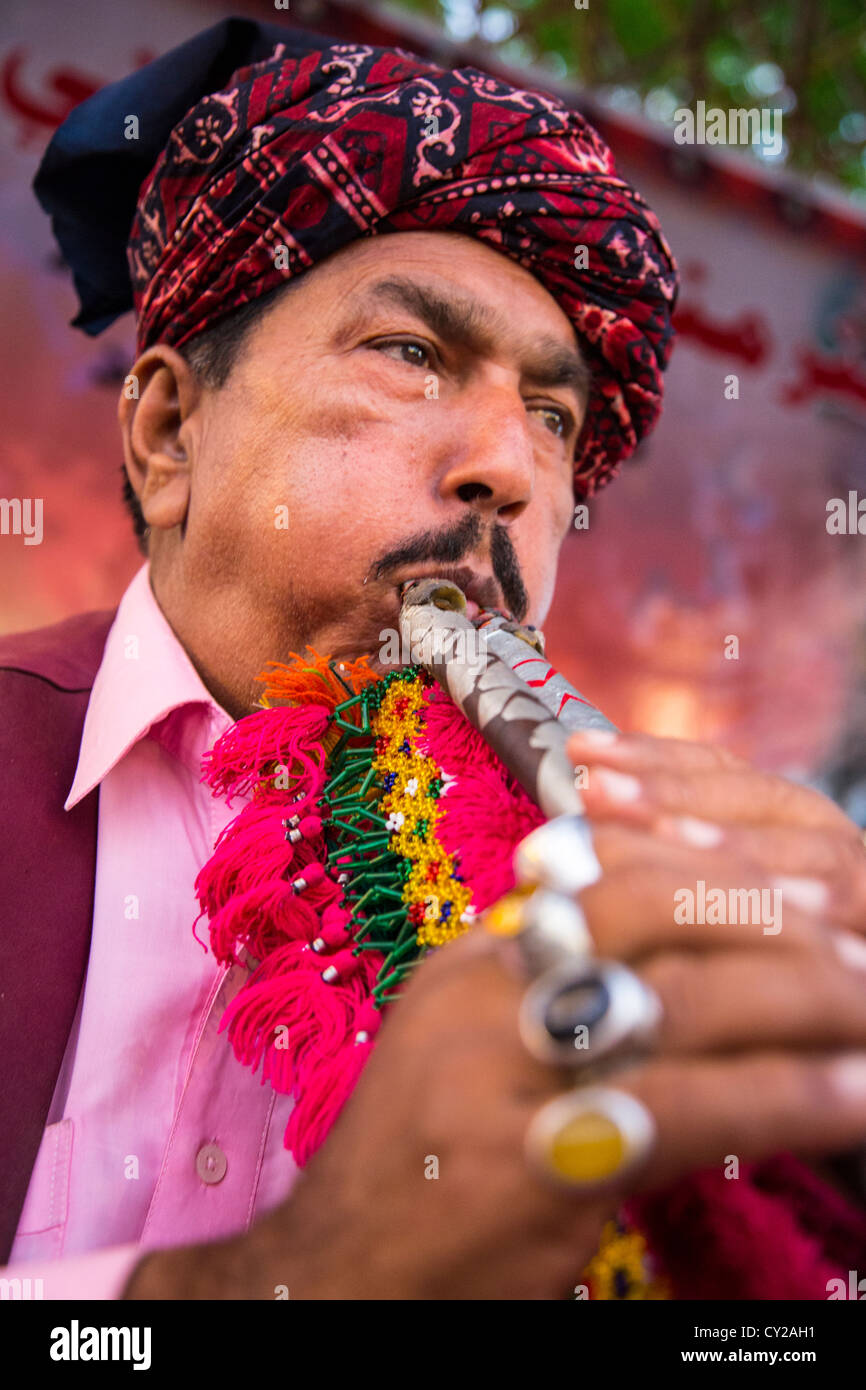 Traditional musician, Islamabad, Pakistan - Stock Image