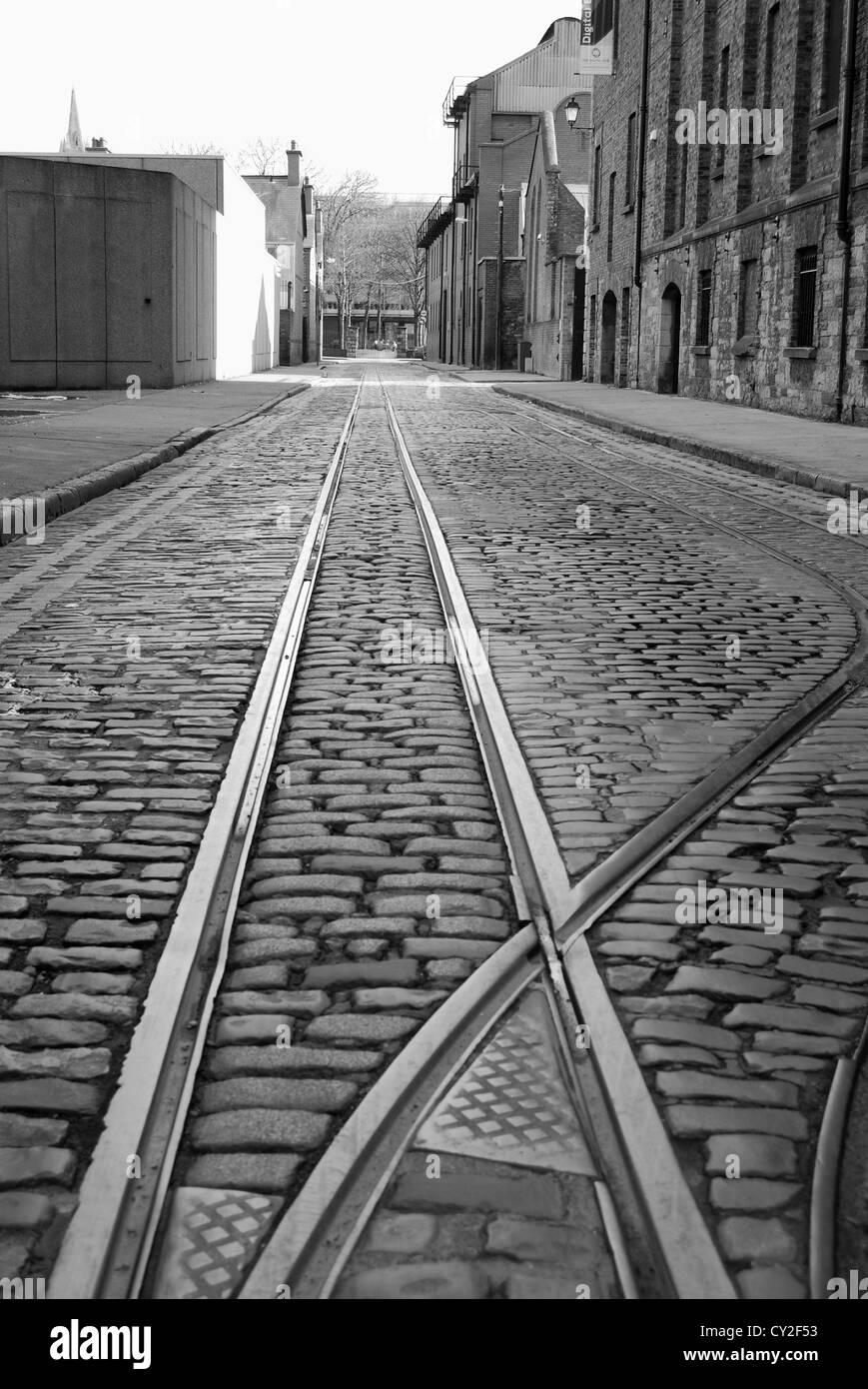 tramway dublin street no 3235 - Stock Image
