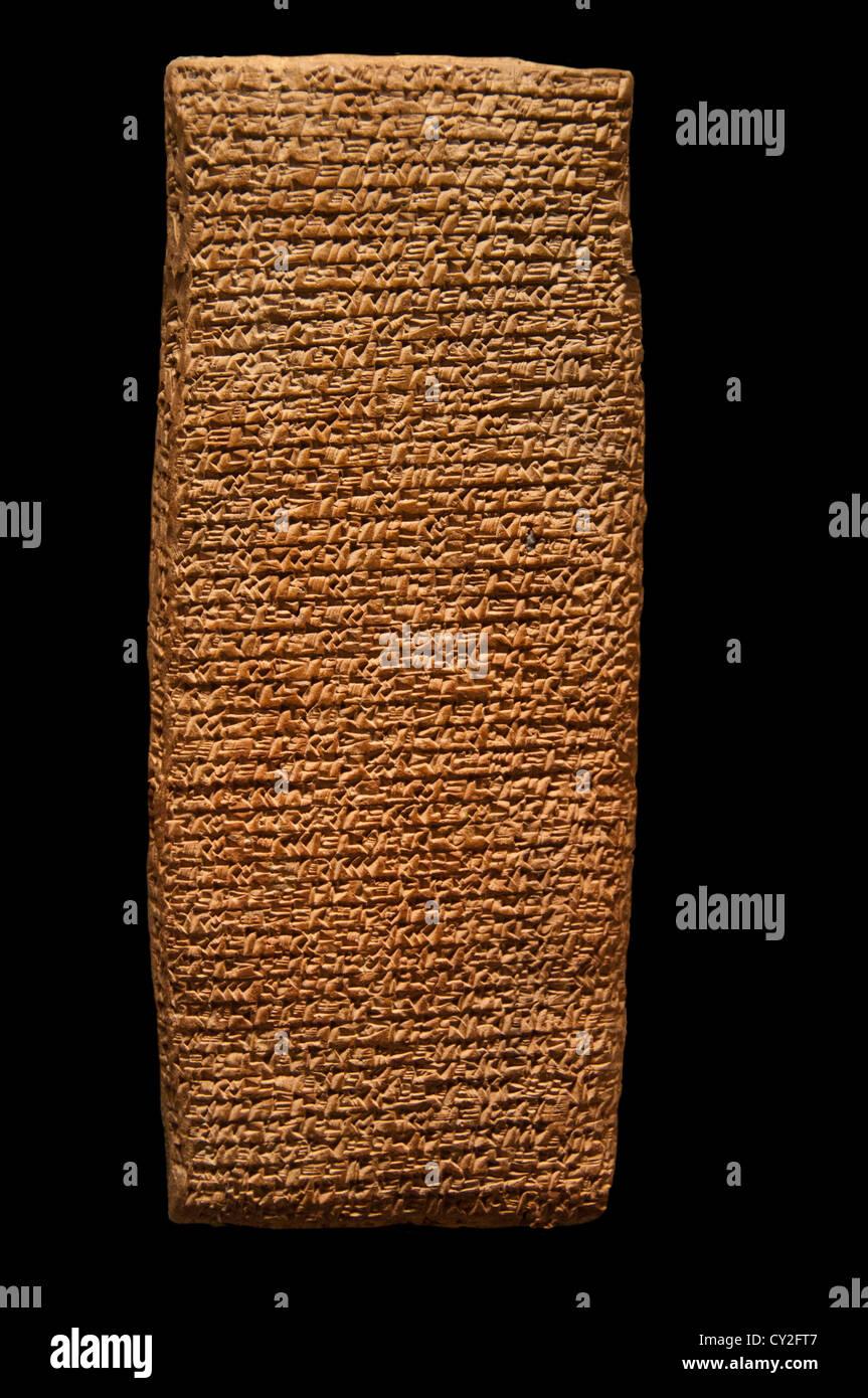 Cuneiform tablet record of a lawsuit Bronze Age Old Assyrian Anatolia Külte natolia Kültepe 17 cm - Stock Image