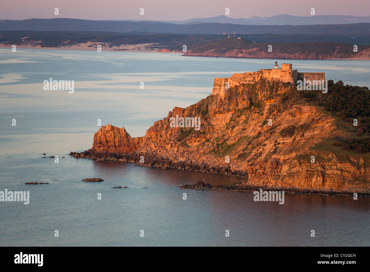 Genoese Castle in Tabarka Tunisia - Stock Image