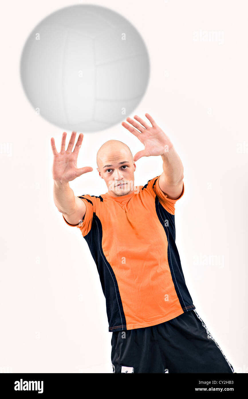 volleyball player on the field - Stock Image