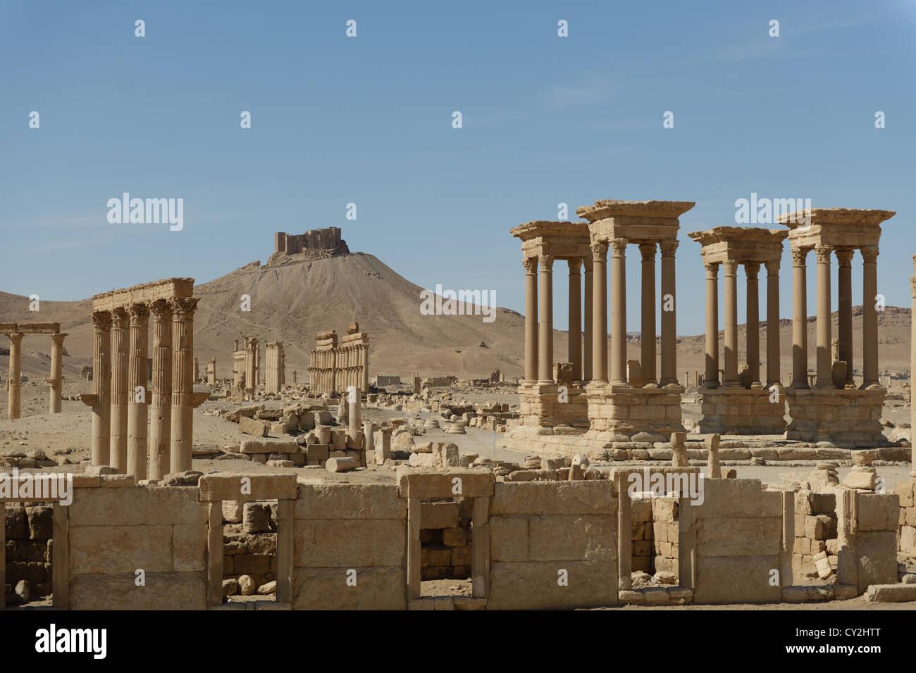 Ancient Ruins of Palmyra, Syria - Stock Image