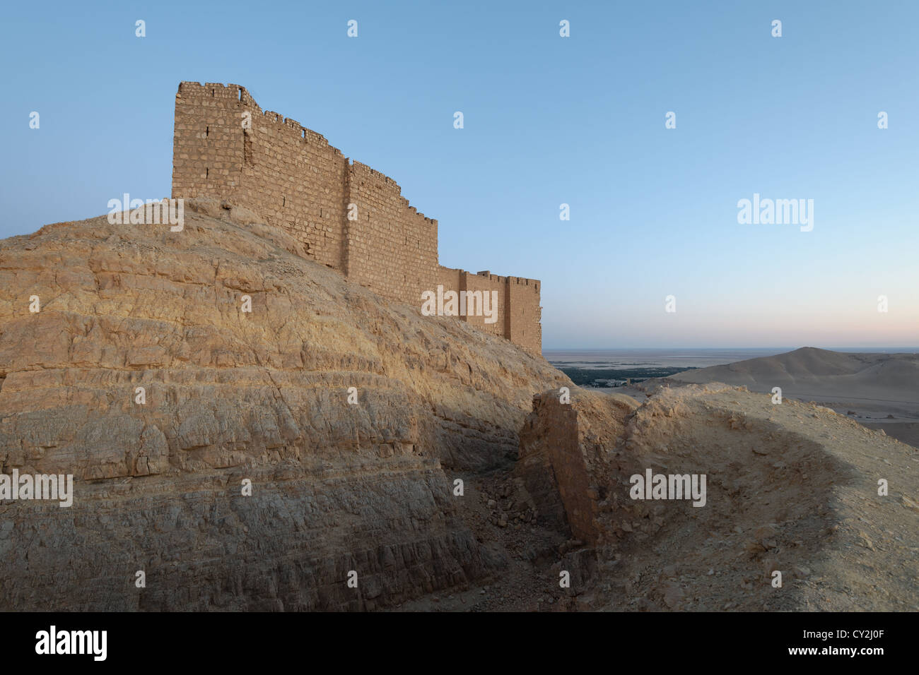 Palmyra Castle Syria - Stock Image