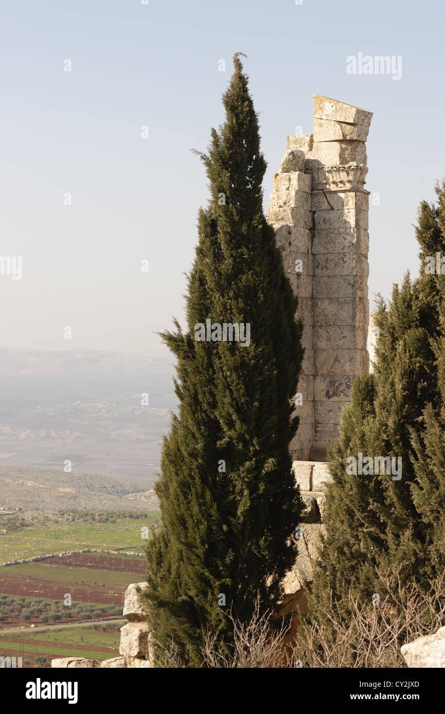 The Church of Saint Simeon Stylites, Syria - Stock Image