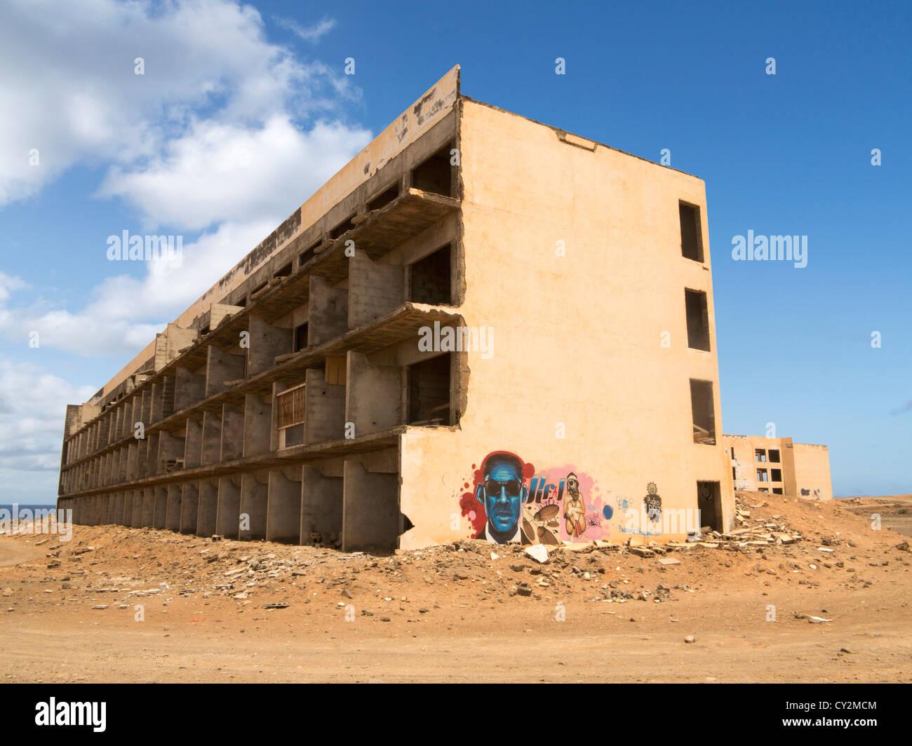 Atlante del Sol derelict hotel, Lanzarote, Canary Islands, example of unchecked development Stock Photo