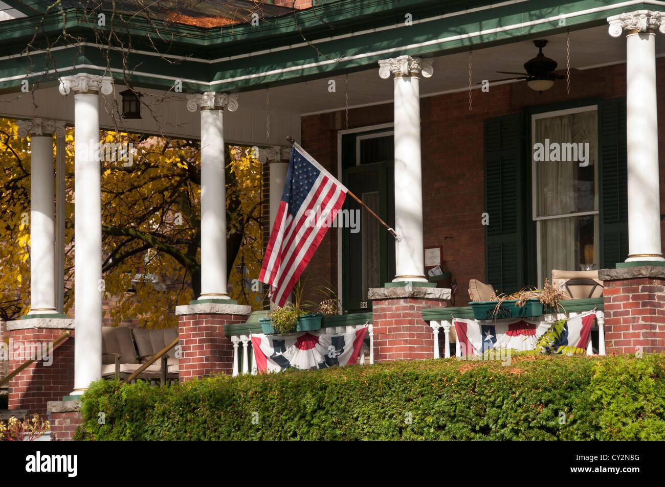 Waterloo NY USA Main Street. - Stock Image