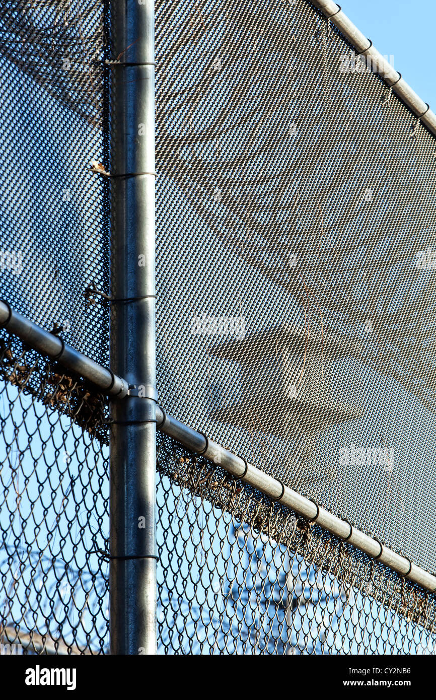 Security fence, tower, prison. - Stock Image