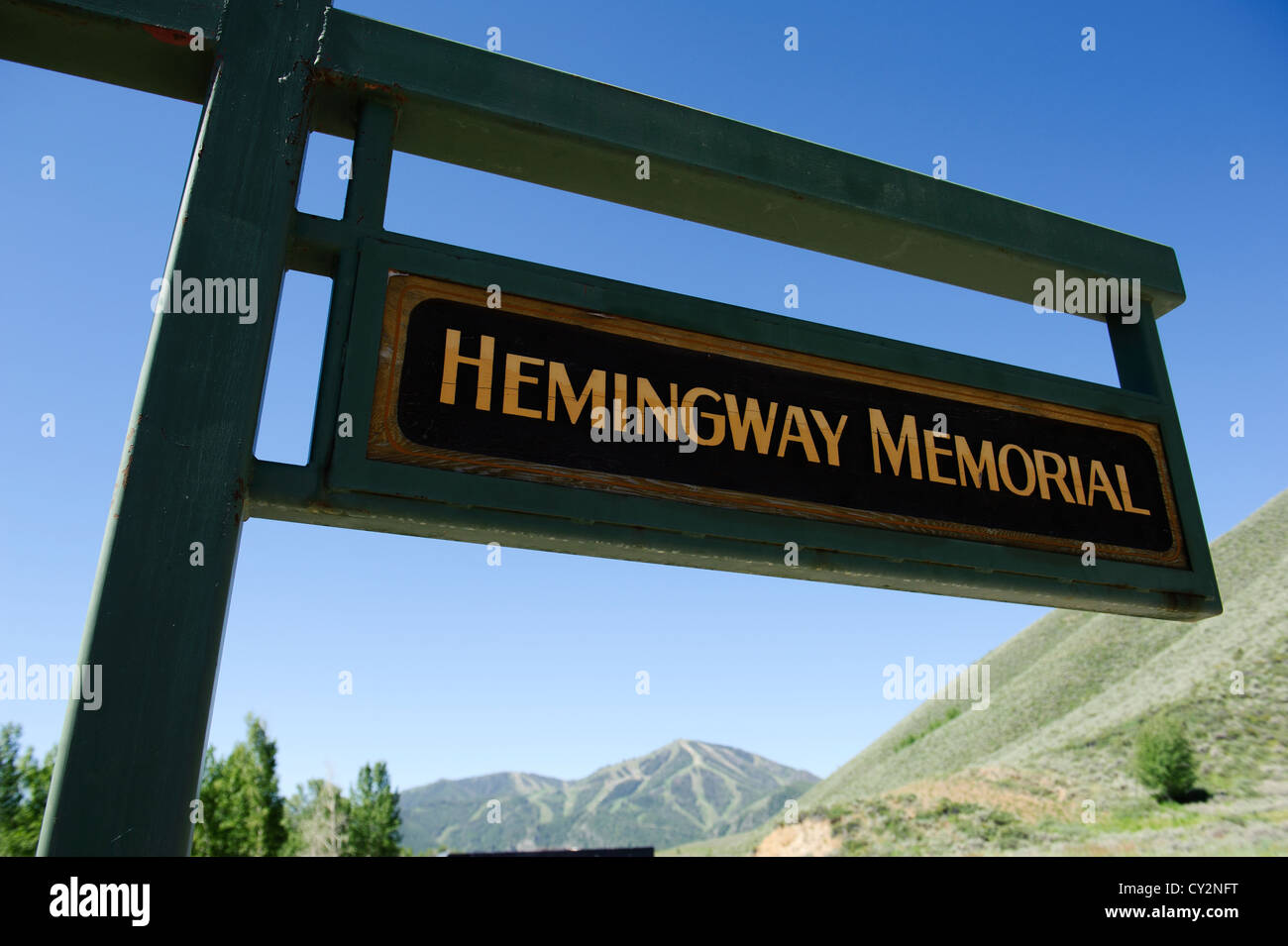 Hemingway Memorial near Sun Valley, Idaho, located on a section of Trail Creek - Stock Image