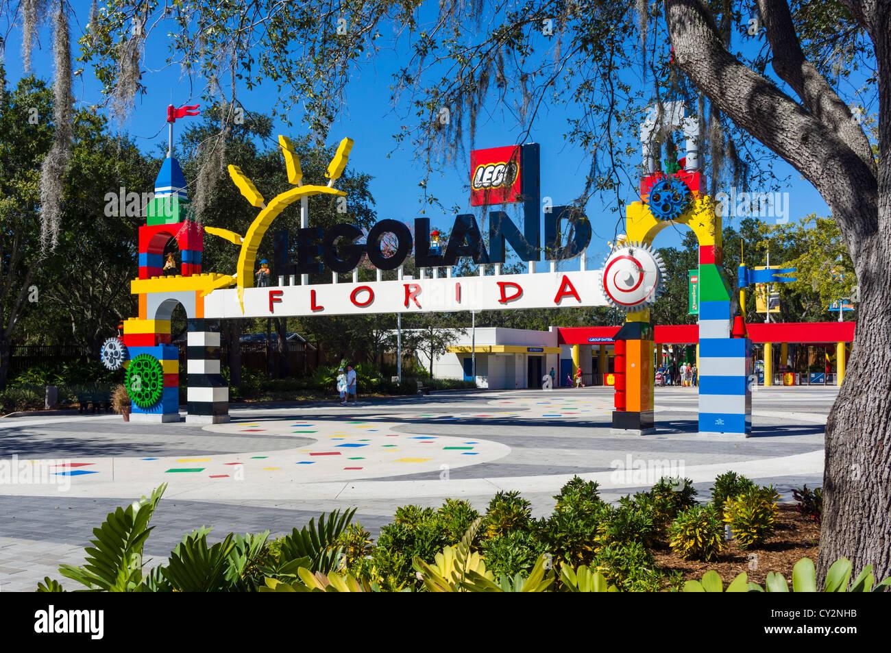 Entrance to Legoland Florida theme park, Winter Haven ...