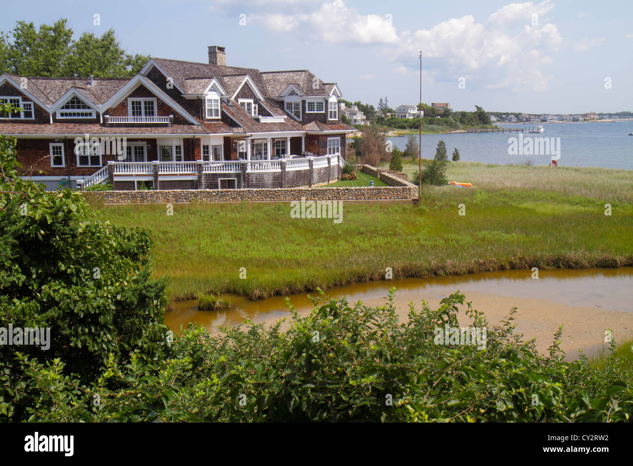 Shingle house cape cod stock photos shingle house cape for Mansions in cape cod