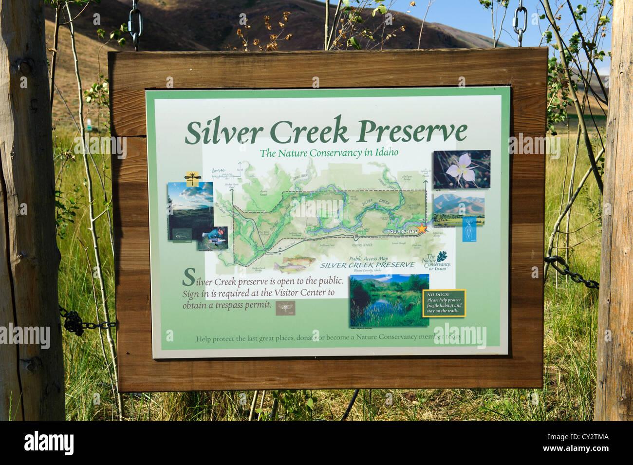 Silver Valley Idaho Map.Silver Creek Preserve Near Sun Valley Idaho Featuring The