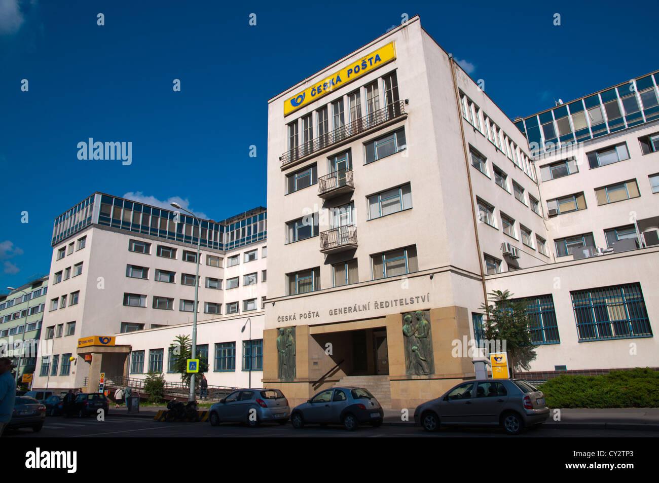 Post Office building long Olsanka street Zizkov district Prague Czech Republic Europe - Stock Image
