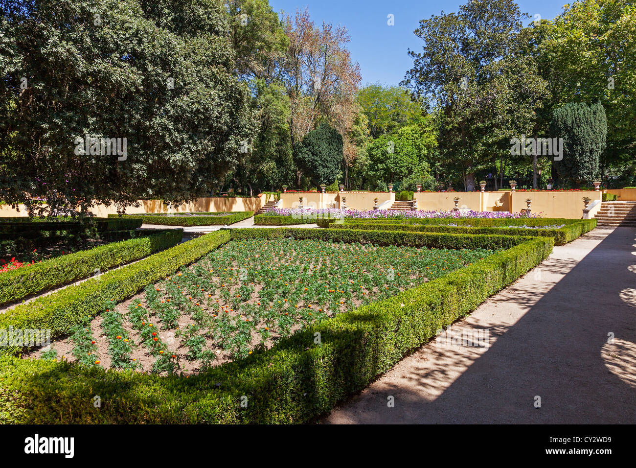 View of the Jardim do Cerco (Cerco Garden), an 18th century baroque garden next to the Mafra Palace. Mafra, Portugal - Stock Image