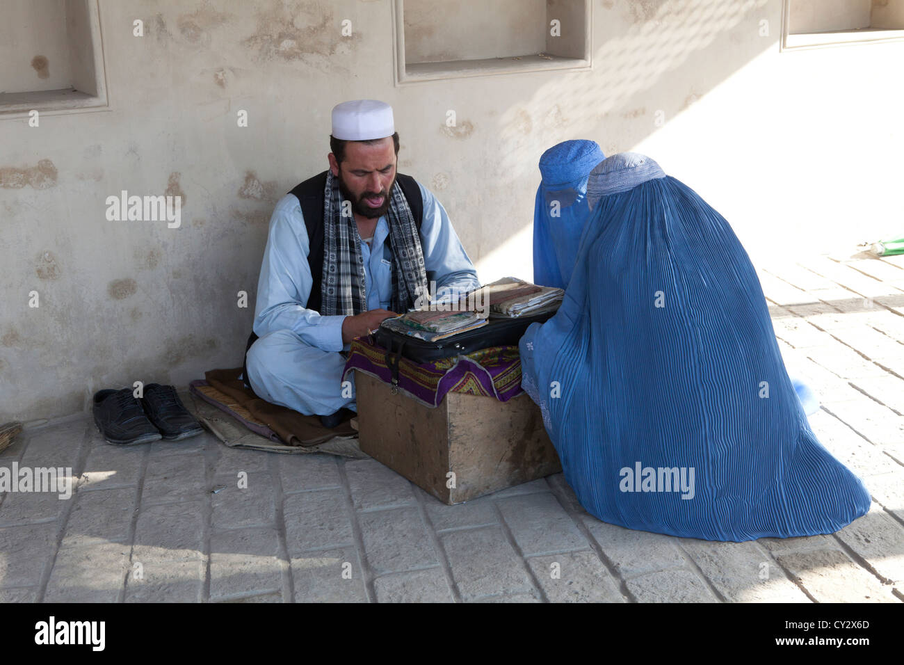 fortune teller in kabul - Stock Image