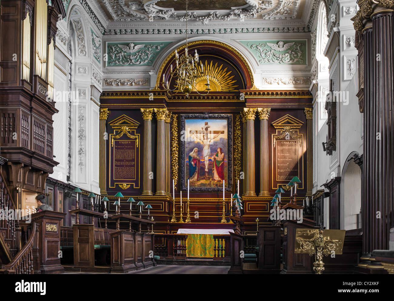 Chancel of All Saints church, Northampton - Stock Image